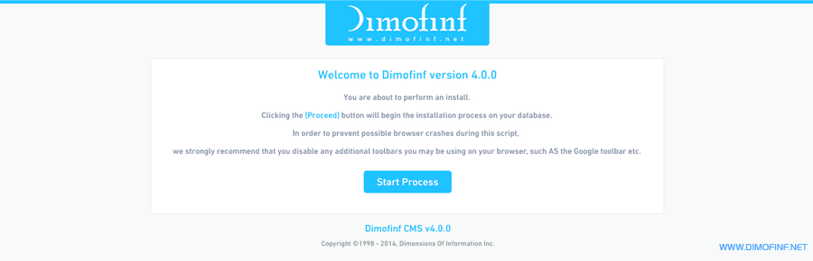 واجهة التنصيب الجديدة لبرنامج ديموفنف 4 لادارة المحتوى