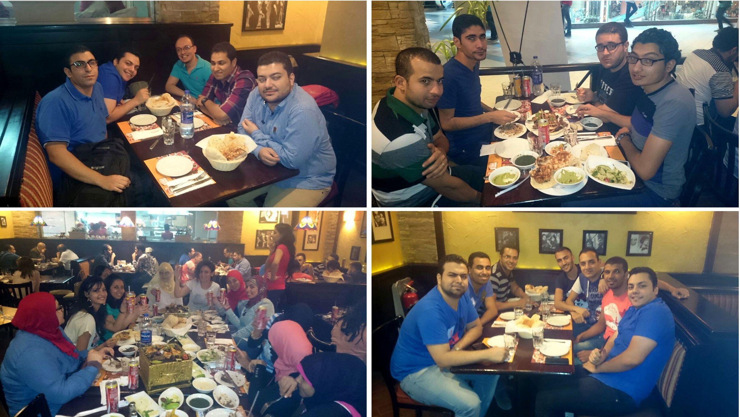 الديموفنفاوية فى مطعم ستوديو مصر
